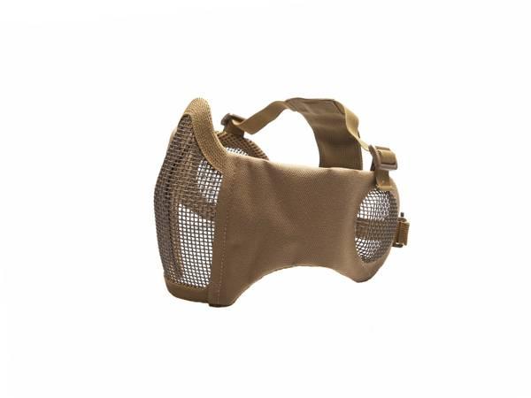 Bilde av Mesh Maske med Kinnpute og Ørebeskyttelse - TAN