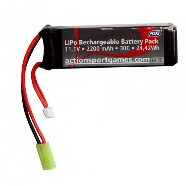 Bilde av ASG Batteri LIPO - 11.1V 2200 mAh 30C - Tamyia