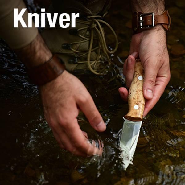 Vi har et stort utvalg av all slags kniver! Game-On!